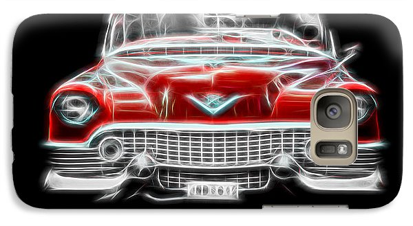 Vehicle Galaxy Case featuring the photograph  Vintage Red Cadillac by Aaron Berg