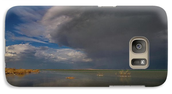 Galaxy Case featuring the photograph  When The Storm Comes by Arik Baltinester