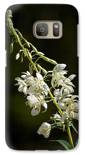 Galaxy Case featuring the photograph  White Fireweed by Jouko Lehto