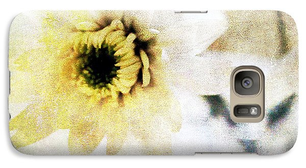 Daisy Galaxy S7 Case -  White Flower by Linda Woods