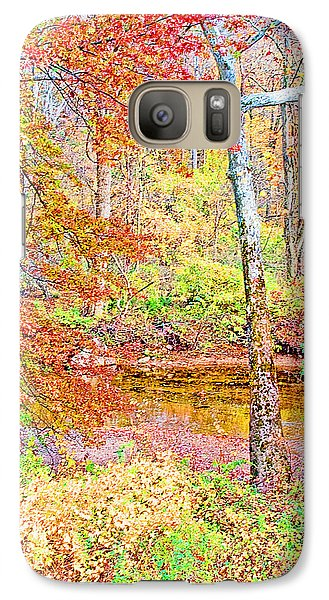 Galaxy Case featuring the photograph  Woods In Autumn Montgomery Cty Pennsylvania by A Gurmankin