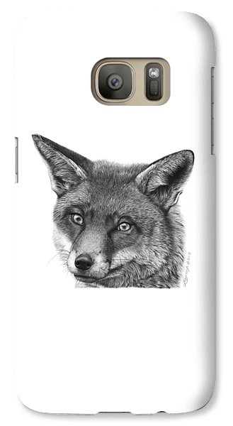 Galaxy Case featuring the drawing 044 Vixie The Fox by Abbey Noelle