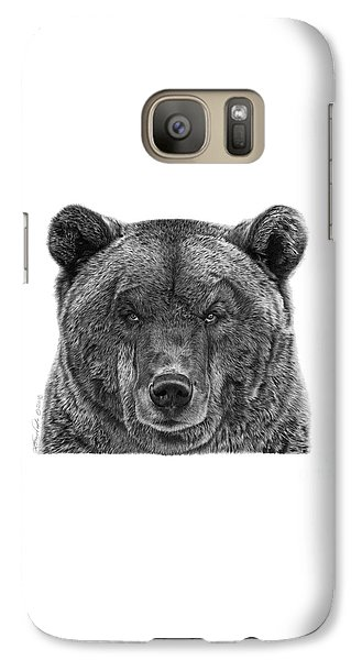 Galaxy Case featuring the drawing 045 Papa Bear by Abbey Noelle