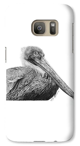 Galaxy Case featuring the drawing 047 - Sinbad The Pelican by Abbey Noelle