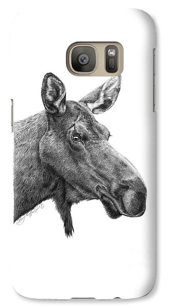 Galaxy Case featuring the drawing 048 - Shelly The Moose by Abbey Noelle
