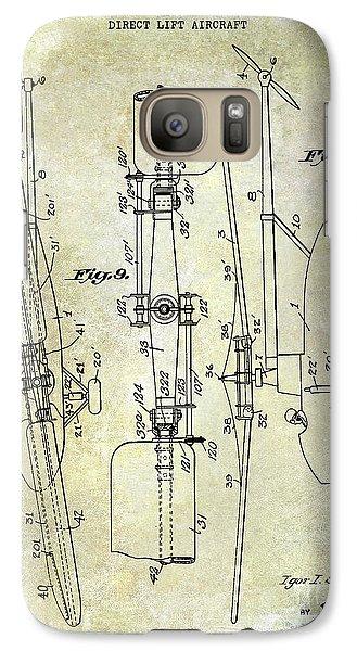 1935 Helicopter Patent  Galaxy S7 Case by Jon Neidert