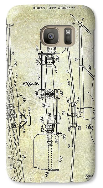Helicopter Galaxy S7 Case - 1935 Helicopter Patent  by Jon Neidert