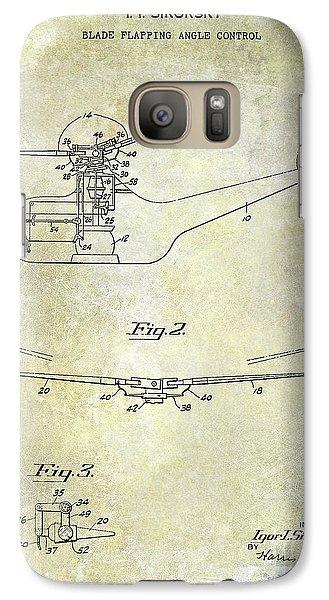 1947 Helicopter Patent Galaxy S7 Case by Jon Neidert