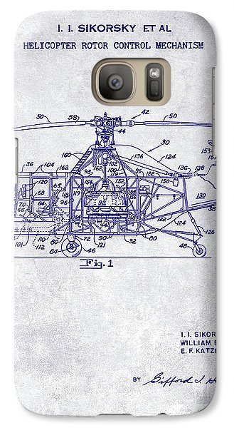 1950 Helicopter Patent Galaxy S7 Case