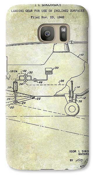 1953 Helicopter Patent Galaxy S7 Case by Jon Neidert