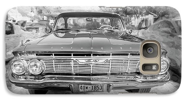 Galaxy Case featuring the photograph 1961 Chevrolet Impala Ss Bw by Rich Franco