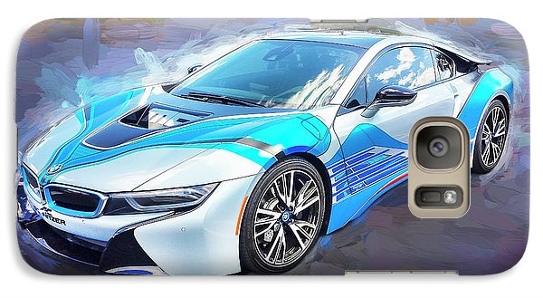 Galaxy Case featuring the photograph 2015 Bmw I8 Hybrid Sports Car by Rich Franco