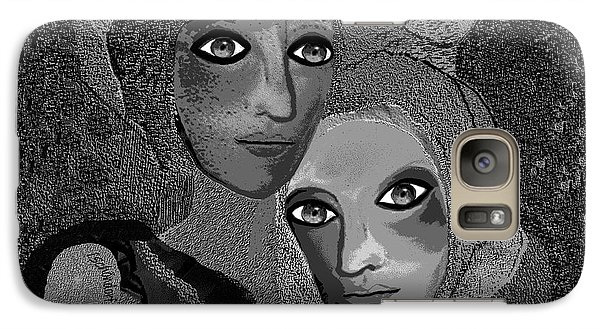 Galaxy Case featuring the digital art 451 - To Lean On by Irmgard Schoendorf Welch