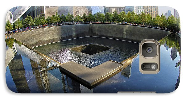 Galaxy Case featuring the photograph 9/11 Memorial by Mitch Cat
