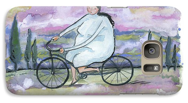 Galaxy Case featuring the painting A Beautiful Day For A Ride by Leanne WILKES