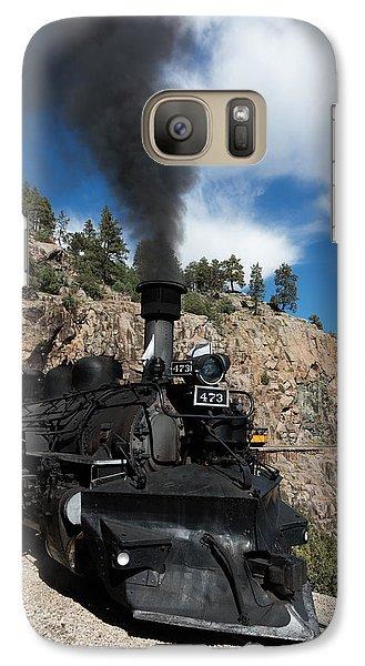 Galaxy Case featuring the photograph A Durango And Silverton Narrow Gauge Scenic Railroad Train Chugs Through The San Juan Mountains by Carol M Highsmith