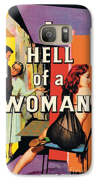Galaxy Case featuring the painting A Hell Of A Woman by Morgan Kane