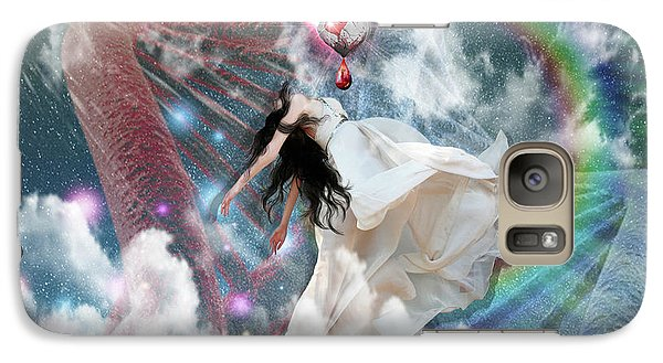 Galaxy Case featuring the digital art A New Heart by Dolores Develde