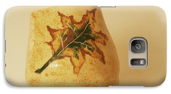 Galaxy Case featuring the photograph A Pot On A Leaf by Itzhak Richter