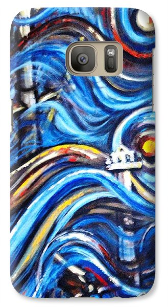 Galaxy Case featuring the painting A Ray Of Hope 4 by Harsh Malik