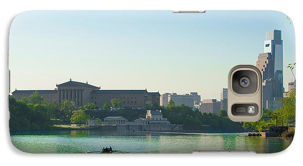 Galaxy Case featuring the photograph A Spring Morning In Philadelphia by Bill Cannon