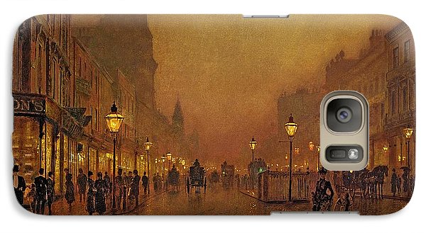A Street At Night Galaxy Case by John Atkinson Grimshaw