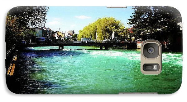 Galaxy Case featuring the photograph Aare River by Mimulux patricia no No