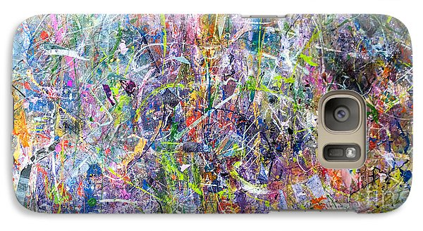 Galaxy Case featuring the painting Abstract #87 by Robert Anderson