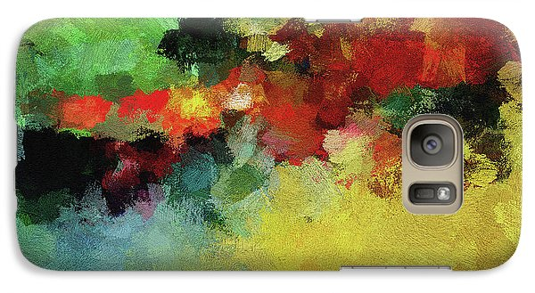 Galaxy Case featuring the painting Abstract And Minimalist  Landscape Painting by Ayse Deniz