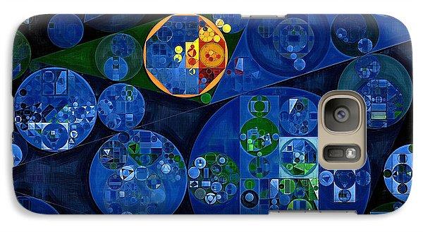 Galaxy Case featuring the digital art Abstract Painting - Dark Midnight Blue by Vitaliy Gladkiy