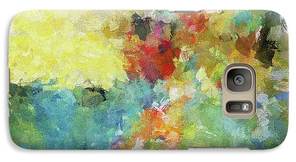 Galaxy Case featuring the painting Abstract Seascape Painting by Ayse Deniz
