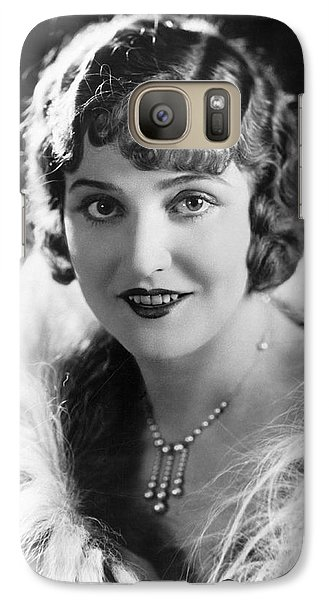 Actress Agnes Ayres Galaxy S7 Case by Underwood Archives