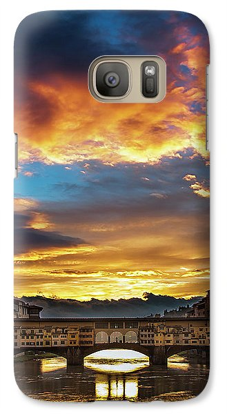 Galaxy Case featuring the photograph After The Storm In Florence by Andrew Soundarajan