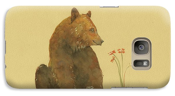 Alaskan Grizzly Bear Galaxy Case by Juan Bosco