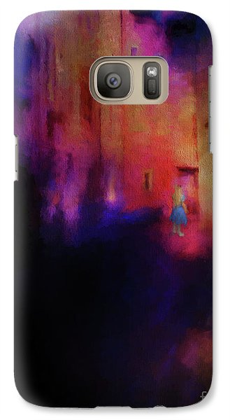 Galaxy Case featuring the mixed media Alice by Jim  Hatch