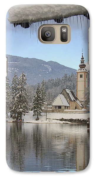 Galaxy Case featuring the photograph Alpine Winter Clarity by Ian Middleton