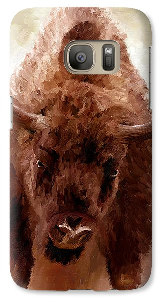 Galaxy Case featuring the painting American Bison by James Shepherd