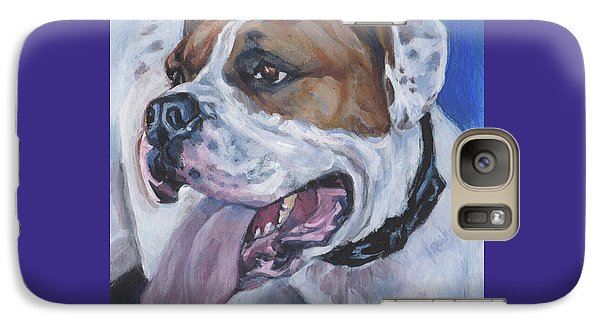 Galaxy Case featuring the painting American Bulldog by Lee Ann Shepard