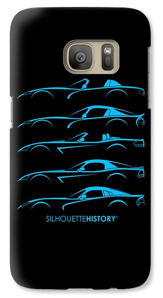 Viper Galaxy S7 Case - American Snakes Silhouettehistory by Gabor Vida