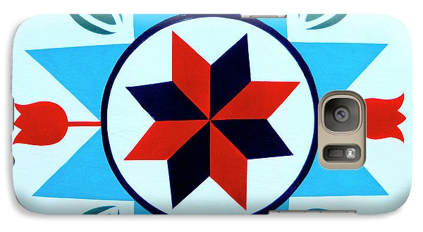 Galaxy Case featuring the photograph Amish Hex Design by Paul W Faust - Impressions of Light