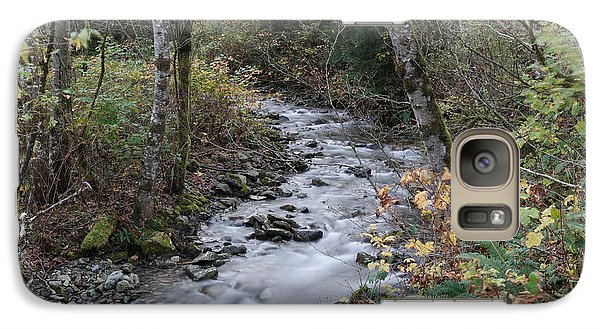 Galaxy Case featuring the photograph An Autumn Stream by Jeff Swan