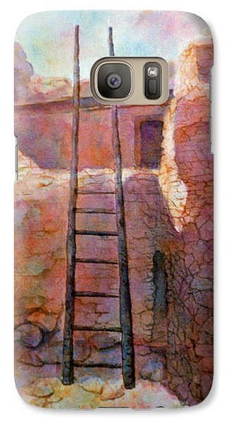 Galaxy Case featuring the painting Ancient Walls by Ann Peck