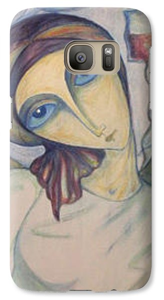 Galaxy Case featuring the painting Angel Of Mercy by Rae Chichilnitsky