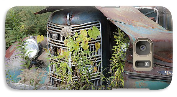 Galaxy Case featuring the photograph Antique Mack Truck by Charles Harden