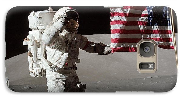 Astronaut Galaxy S7 Case - Apollo 17 Astronaut Salutes The United by Stocktrek Images