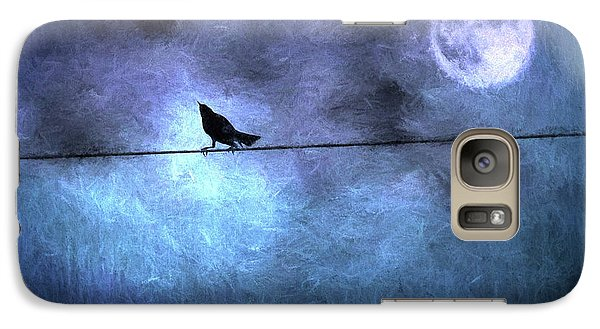 Galaxy Case featuring the photograph Ask Me For The Moon by Jan Amiss Photography