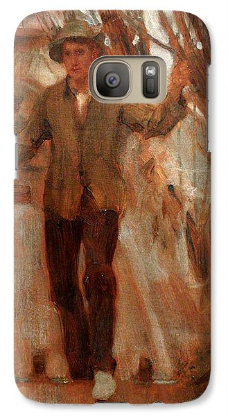 Galaxy Case featuring the painting At The Break Of The Poop  by Henry Scott Tuke