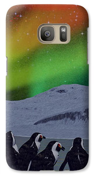 Galaxy Case featuring the digital art Aurora Borealis by Methune Hively