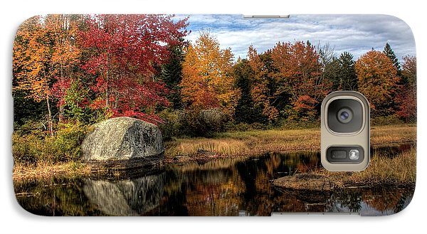 Galaxy Case featuring the photograph Autumn In Maine by Greg DeBeck