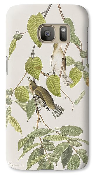 Autumnal Warbler Galaxy S7 Case by John James Audubon